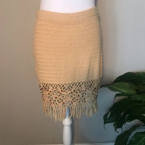 TRF / Crocheted Mini Skirt w/ Stones